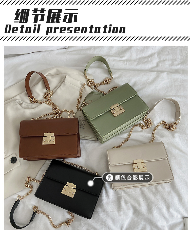 Casual allmatch new trendy fashion chain shoulder messenger texture small square bag NHTC242655