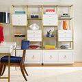 现代简约铁艺书架 多层收纳组合书柜 家用落地置物架