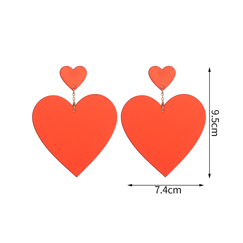 Korean Fashion Acrylic Sheet Heart Shaped Earrings Wholesale NHJJ205188