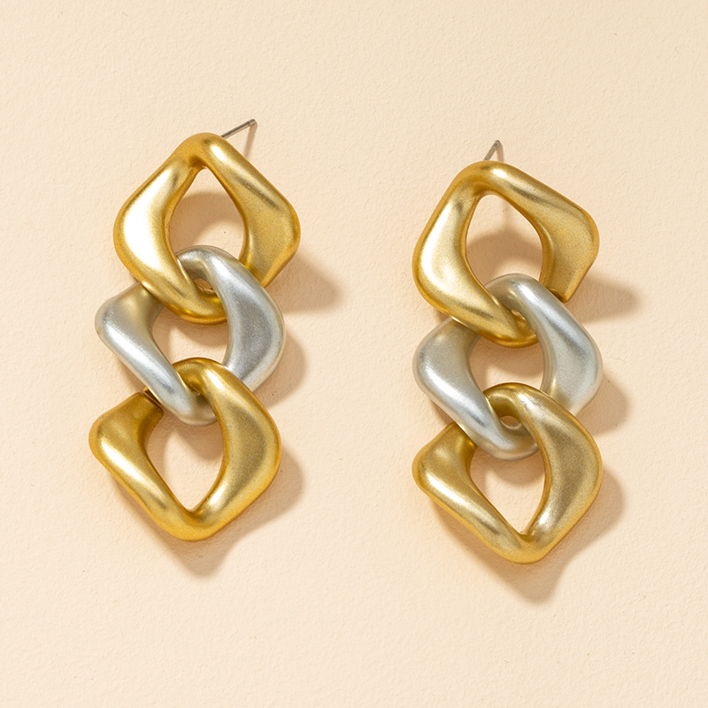 color matching chain earrings  NHGU295758