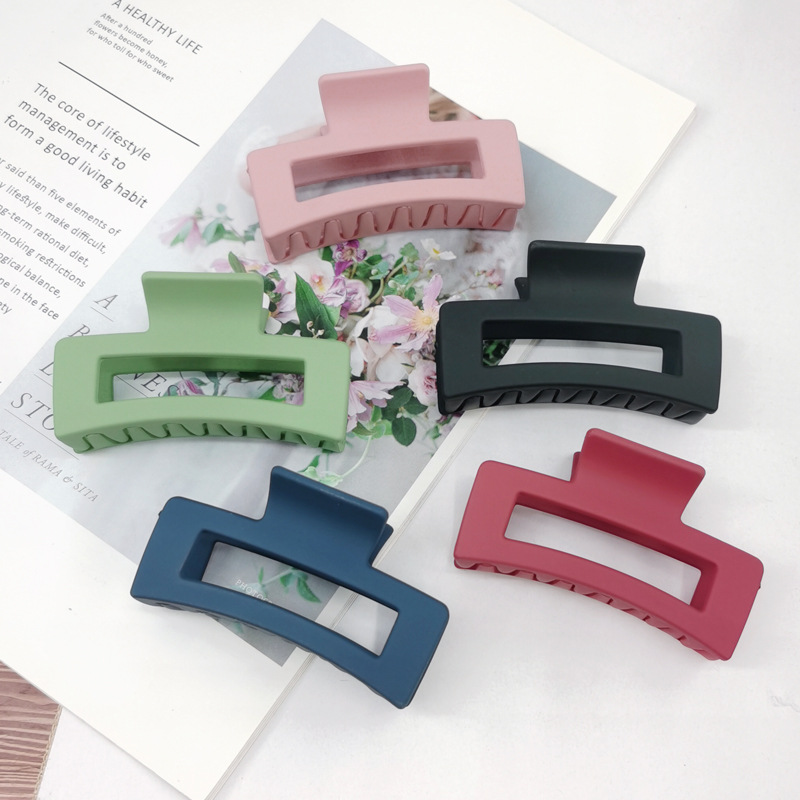 retro frosted  candy color hair clip  NHDQ283920