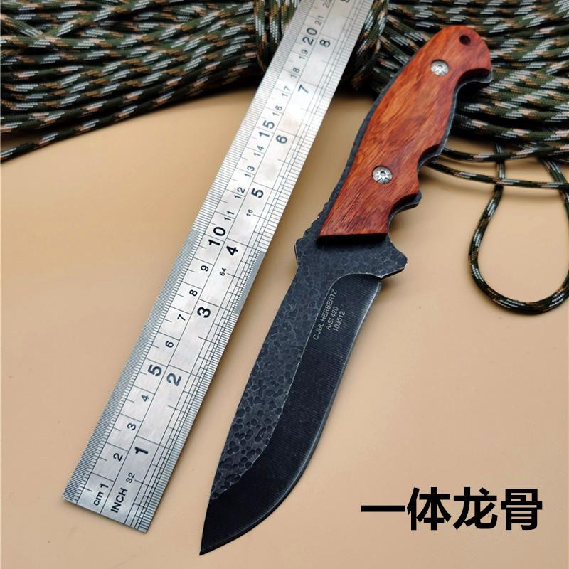 户外刀一体龙骨野外生存直刀荒野求生防身刀战术小刀瑞士军刀刀具