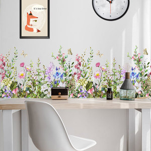 plant flower creative cycle multi collage living room background wall decoration wallpaper customization