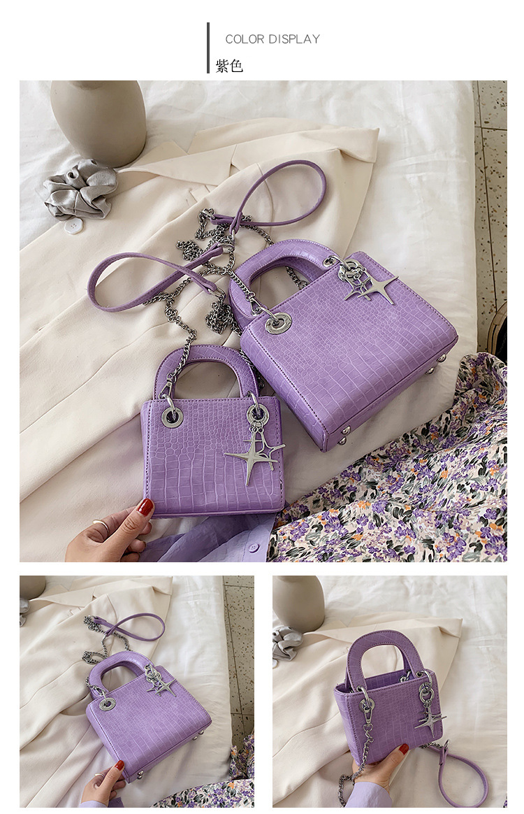 Textured popular ladies small bag  new wave Korean  fashion wild portable chain shoulder messenger bag nihaojewelry wholesale NHXC223129
