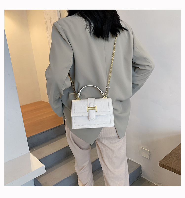 new summer retro crocodile pattern soft leather portable allmatch oneshoulder small square messenger bag NHLH248944