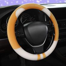 新款卡通汽車方向盤套 冬季短毛絨車把套 廠家直銷通用防滑韓版圓