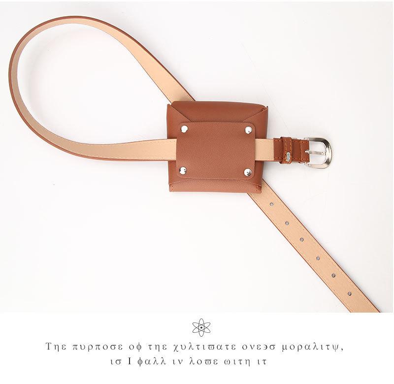 Nuevo bolso de cinturn para mujer mini monedero de moda cinturn de producto bolso pequeo de cinturn multifuncional al por mayor nihaojewelry NHJN230748