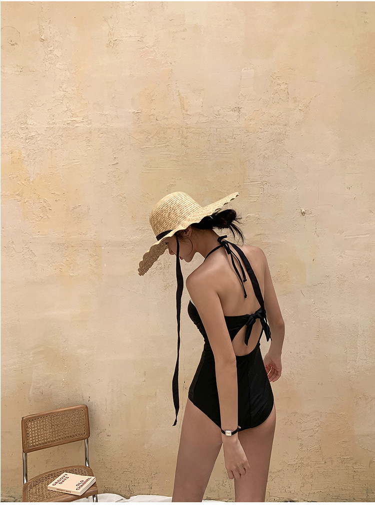 sexy one-piece gather conservatively cover belly bikini NSHL4014