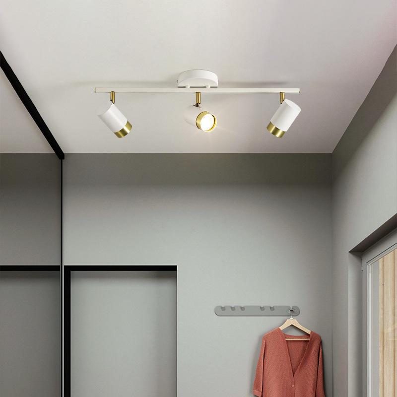 射灯led天花灯家用筒灯客厅背景墙壁灯北欧明装轨道灯衣帽间射灯