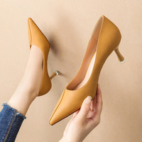 Han edition style 9797-1 point light show thin mouth high-heeled shoes heel professional OL women's shoes joker party shoes
