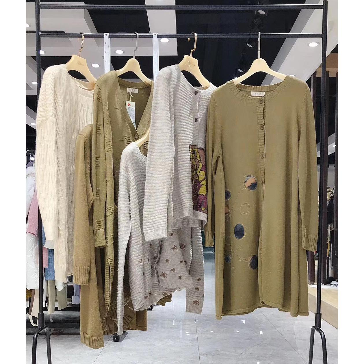2020秋季连衣裙中国风复古刺绣棉麻大码女装品牌专卖店实体货源