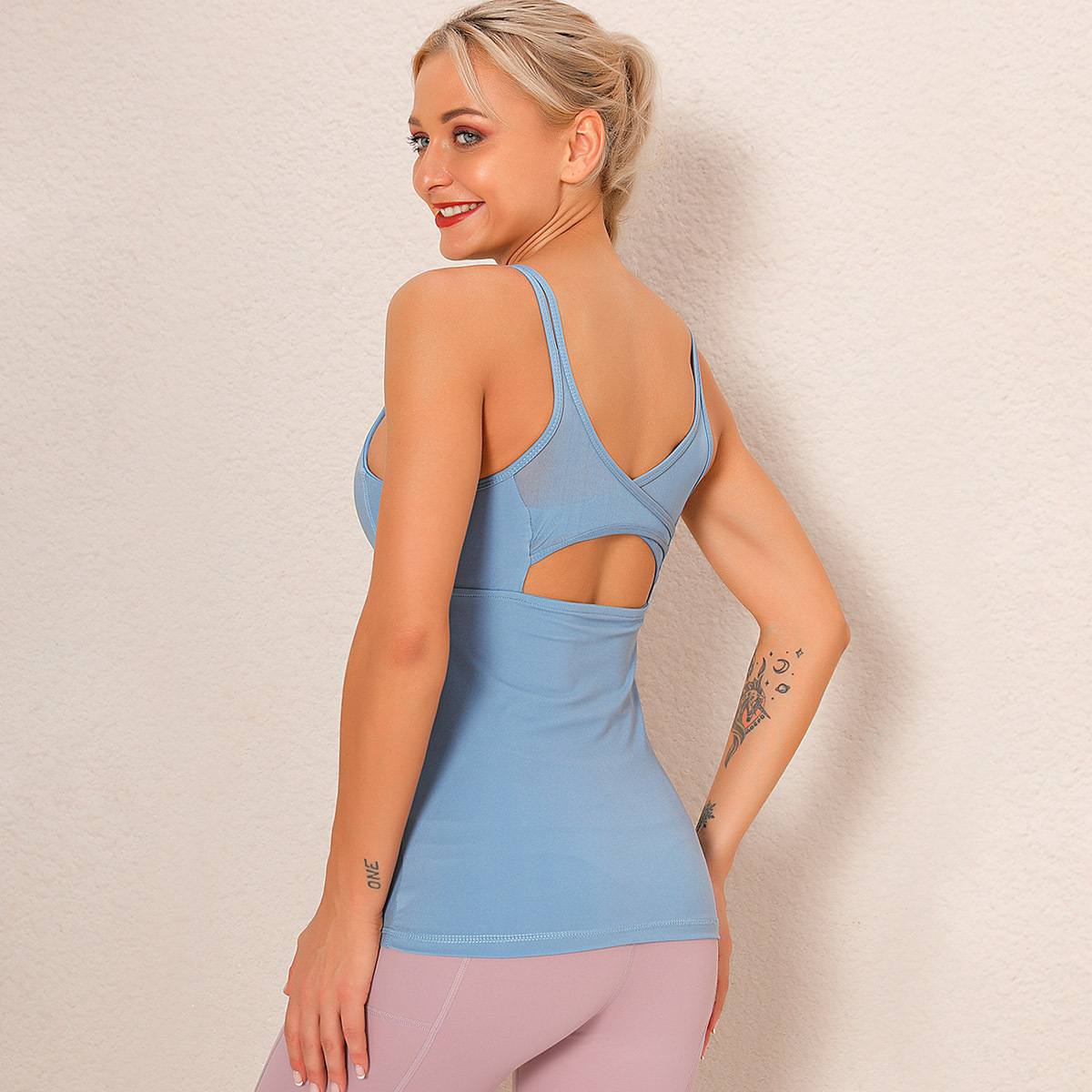 sexy suspenders  yoga wear shockproof bra NSLX9049