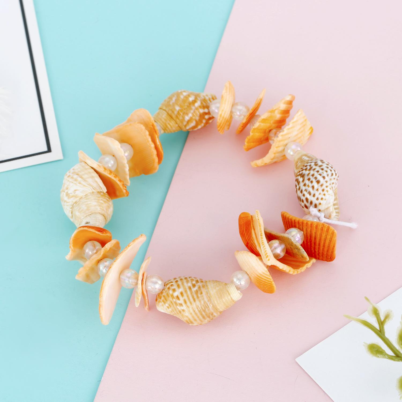 Jewelry natural shell bracelet summer beaded conch bracelet elastic bracelet shell bracelet NHGO204394