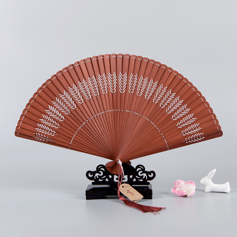 Chinese Fan Chinese Hanfu hand Fan women carving and hollowing out craft folding fan