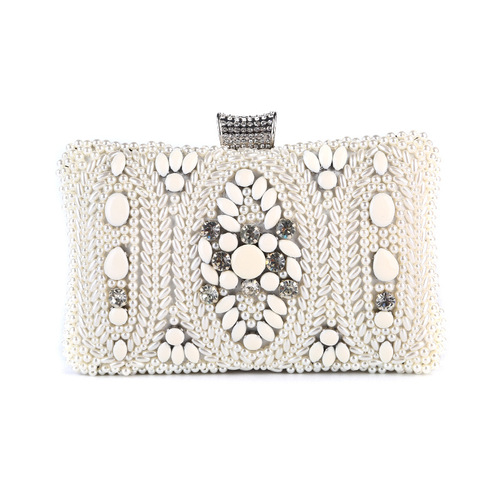 Jewel Dinner Bag pearl pure handmade pearl embroidery evening bag banquet hand bag