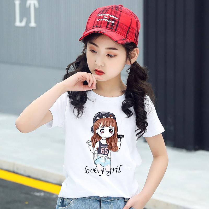 女童装儿童纯棉t恤2021夏装新款韩版夏季中大童短袖一件代货批发