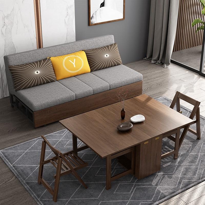 北欧轻奢简约百变多功能创意沙发床公寓小户型两人折叠伸缩沙发床