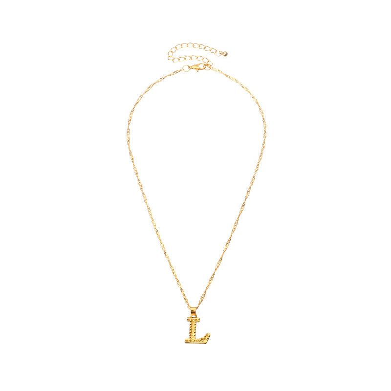 26 English capital letters pendant necklace clavicle chain NHNZ263164