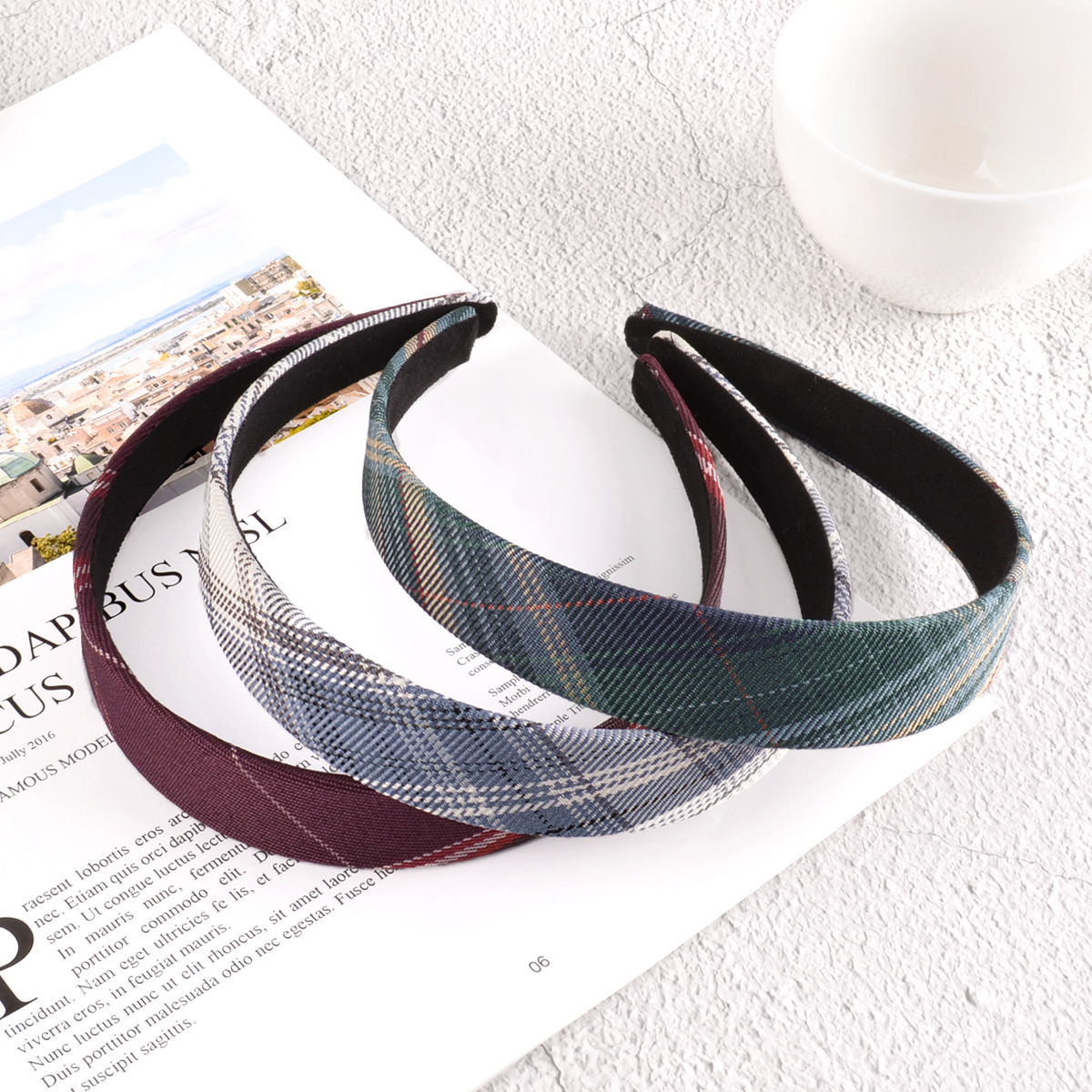 fashion lattice headband  NHAQ295498