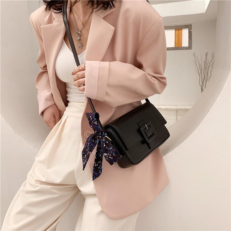 fashion square buckle messenger small square bag NHWH337701