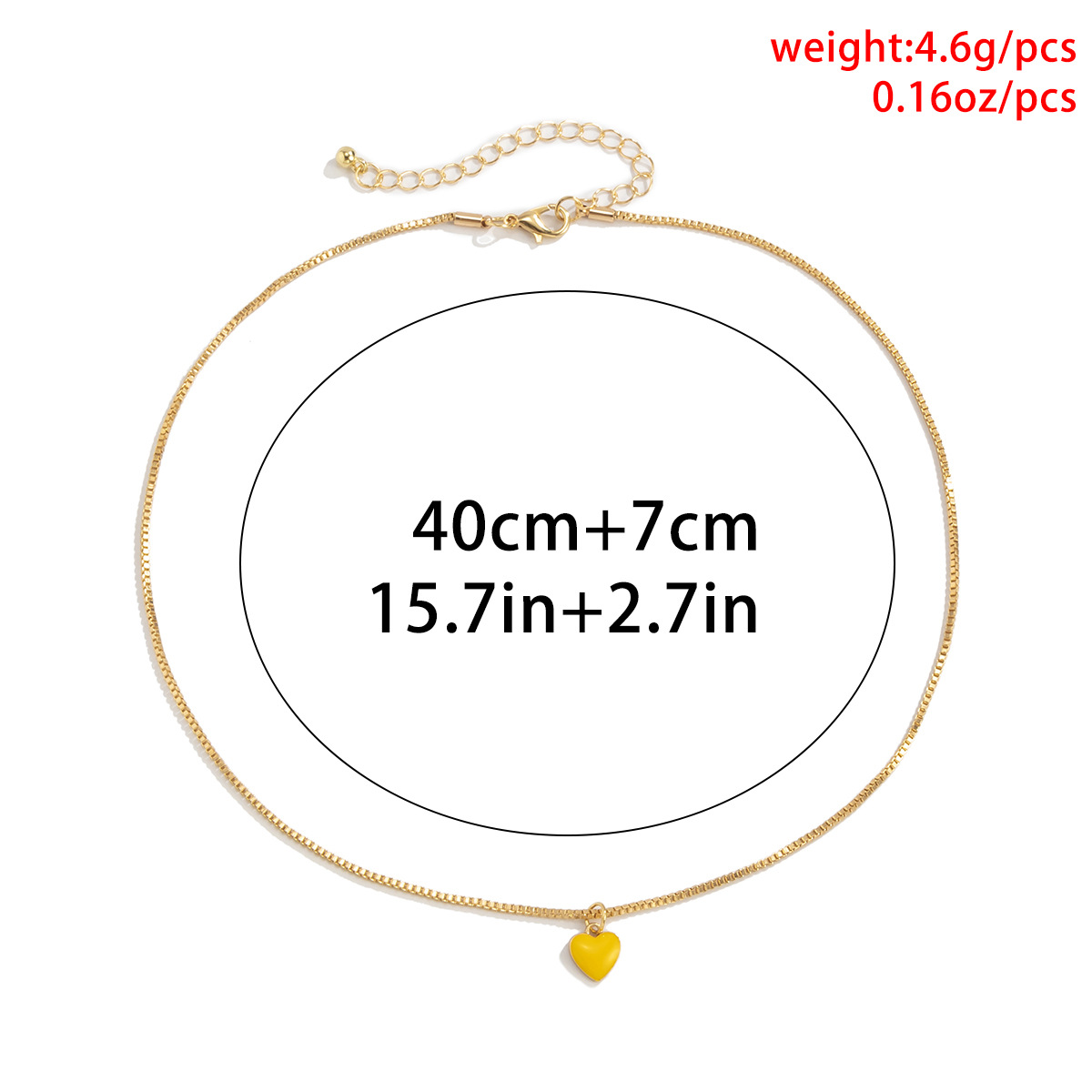 wholesale simple heartshaped dripping oil copper necklace Nihaojewelry  NHXR397015
