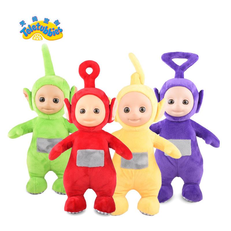 正版天线宝宝动漫儿童小波毛绒玩具公仔玩偶幼教母婴胶面一件代发
