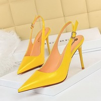 869-2 han edition contracted after ultra-high with shallow mouth pointed strappy hollow out a single shoe heels pedicure show thin women's shoes