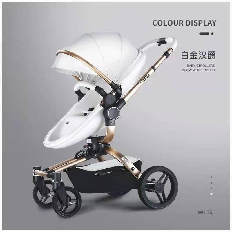 aulon奥云龙婴儿推车可坐躺折叠双向轻便高景观新生宝宝儿童推车