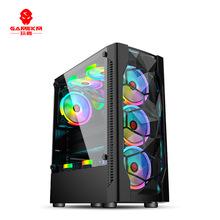 玩嘉冰钻I台式电脑机箱 台式机全侧透明水冷 ATX大主板游戏主机箱