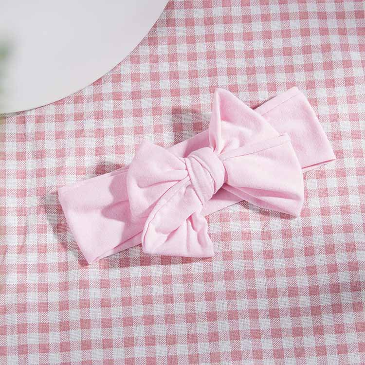 childrens solid color double bow headband NHWO335112