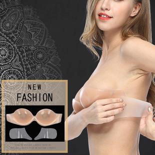 Cross-border Strapless Silicone Invisible Bra One Piece Seamless Gathering Non-slip Lifting Adjustable Ladies Underwear