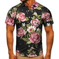 2021跨境夏季短袖衬衫波普艺术碎花数码印花衬衣男装上衣衬衫