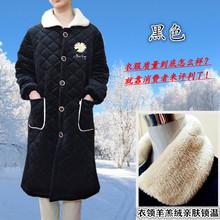 20新款色翻领加长夹棉加绒保暖女成人罩衣防脏男工作服长袖围裙