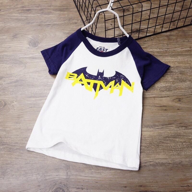 新款2021男童棉质夏欧美风蝙蝠短袖t恤卡通印花图案工厂外单