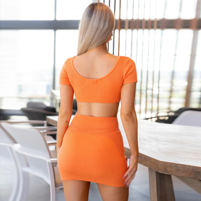 hollow sexy spring and summer new fashion halter one step short skirt NSFLY62134