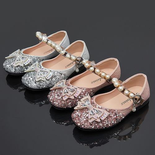 Girls princess host singers performance shoesprincess shoes diamond children crystal shoes children shoes dancing shoes
