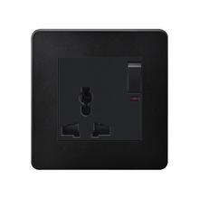 国际通用86型一开英式多功能13A万能三插孔港式英标开关插座面板