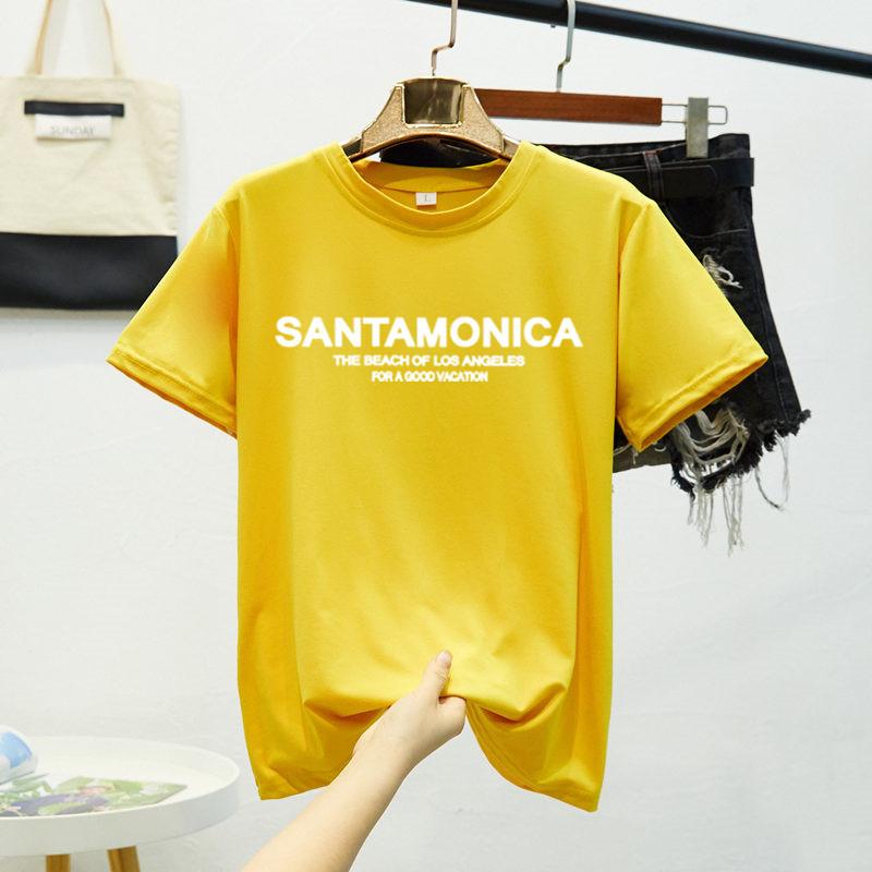 阿才新款夏季圆领短袖男女T恤上衣八色百搭宽松情侣学生#k3007#
