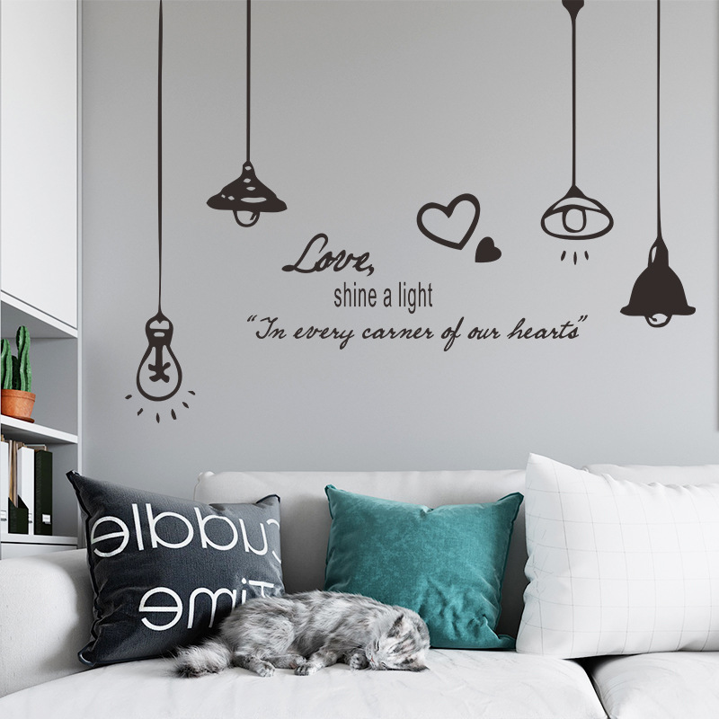 new simple English chandelier wall stickers NHAF340696