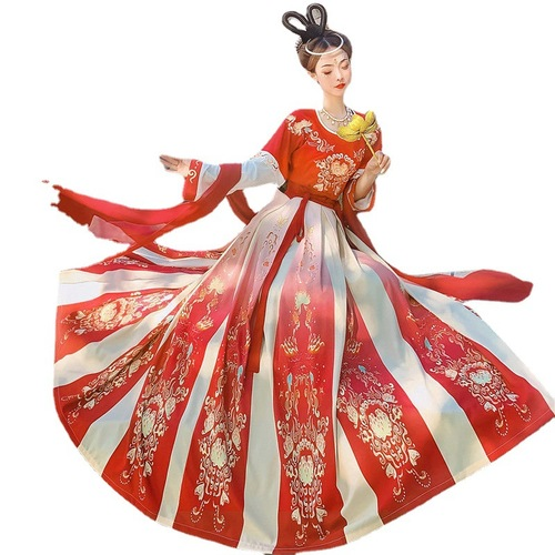 Women chinese dresses hanfu ming qing dynasty princess film cosplay dresses Traditional fairy dresses female waist Chinese style skirt