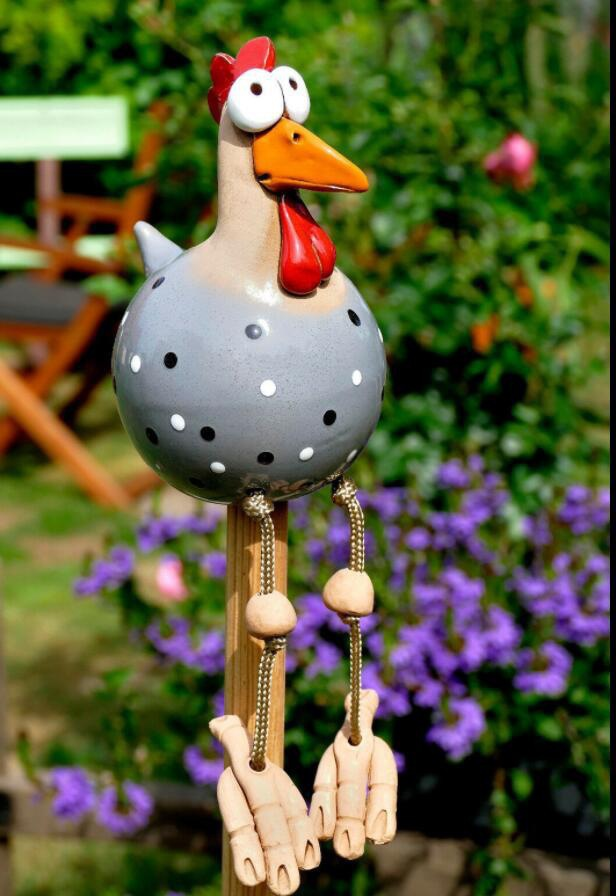 Resin Chicken Statues for the Garden and Kitchen