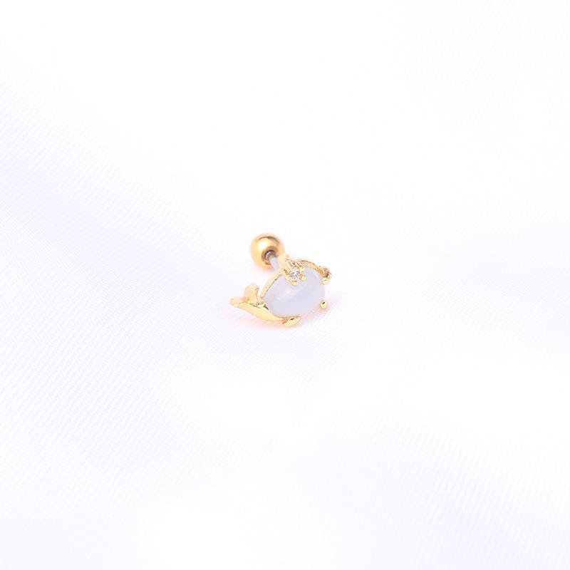 Fashion ocean series copper inlaid zircon earrings wholesale NHEN347341