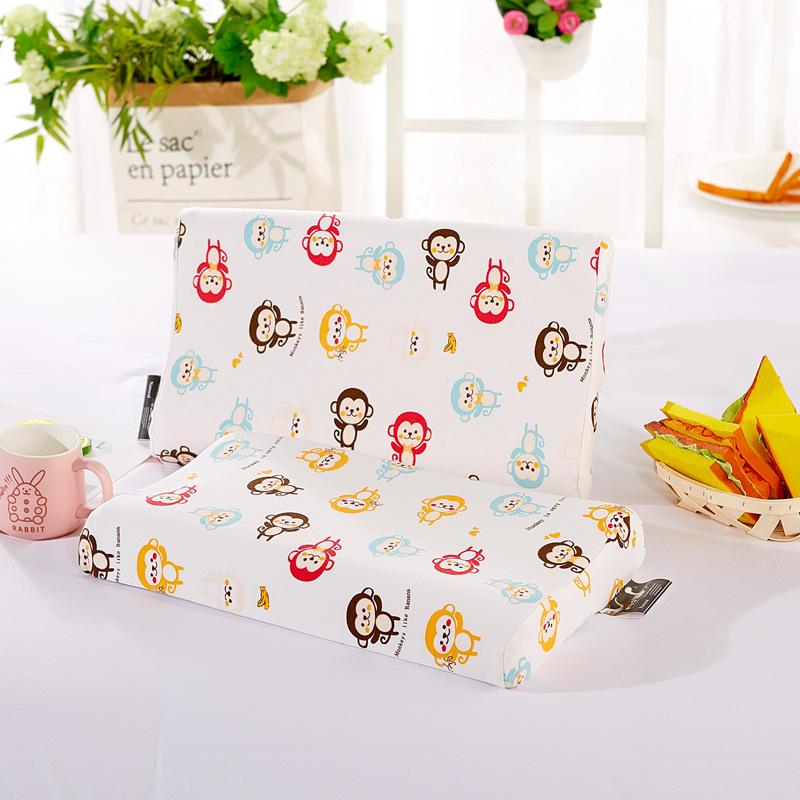 新款儿童乳胶枕头礼品卡通枕头枕套微商学生婴儿乳胶枕芯一件代发