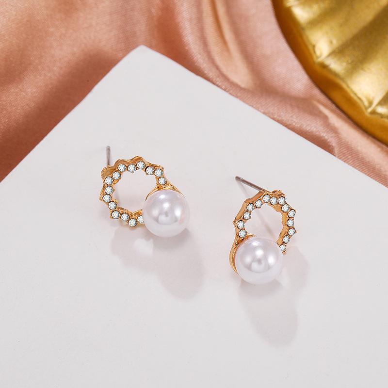new pearl C-shaped earrings  NHPF303381