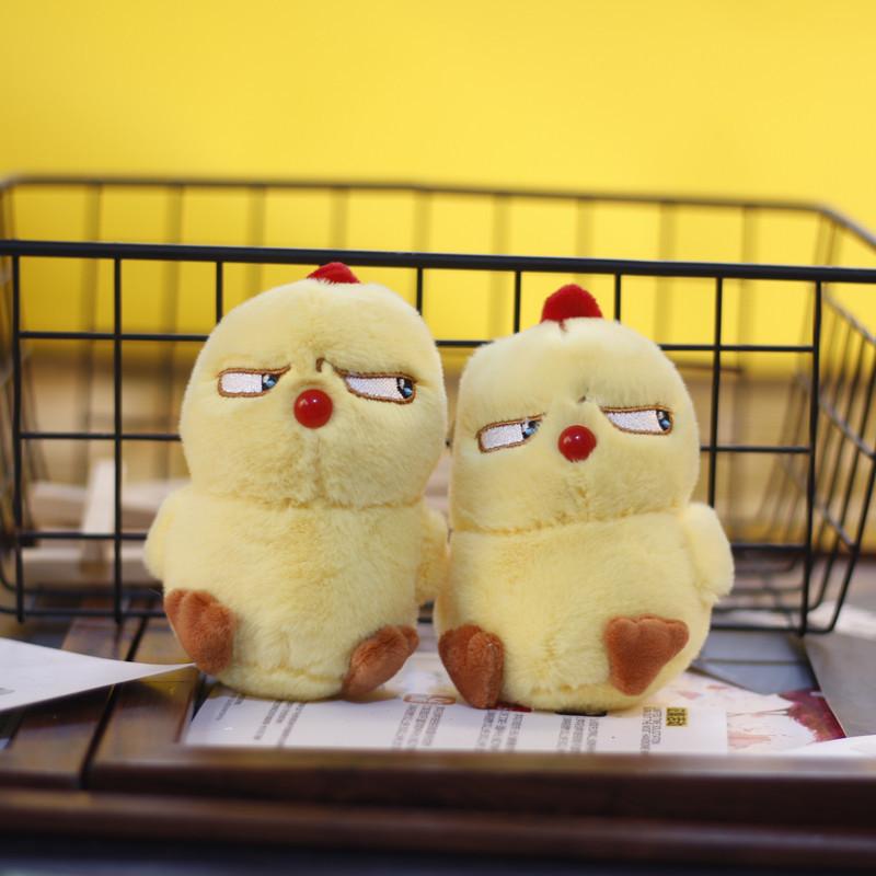 网红ins可爱萌小鸡挂件毛绒玩具公仔愤怒小鸟包包挂饰钥匙扣娃娃
