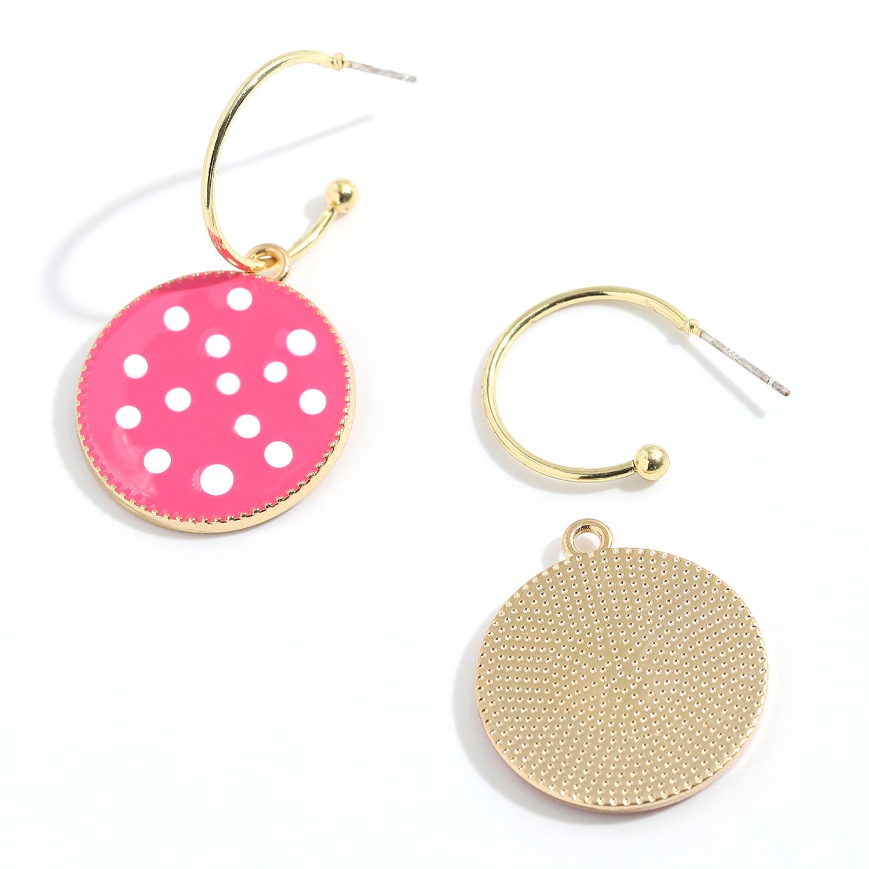 fashion alloy circle pendant earring NHJQ336286