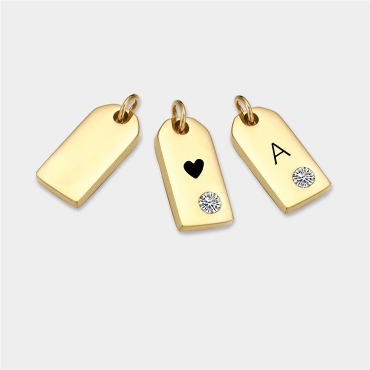 Fashion Stainless Steel Diamond Geometric Pendant Accessories NHTF336234