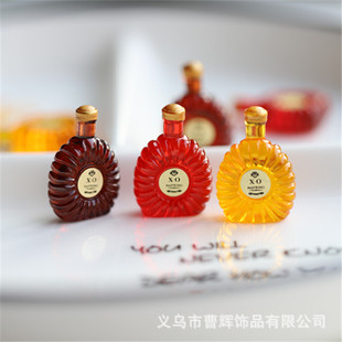 Simulation mini wine bottle small ornaments diy resin jewelry accessories keychain earrings pendant handmade materials
