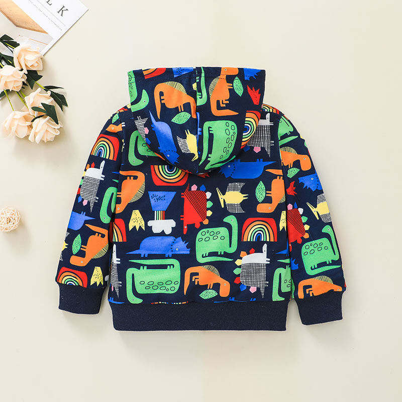 childrens fashion cartoon printing hooded letters sweater wholesale nihaojewelry NHSSF429299