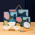 北欧陶瓷五一礼品定制餐具套装礼盒装送礼饭碗家用碗筷碗碟logo